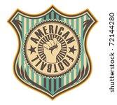 vintage american football crest.... | Shutterstock .eps vector #72144280