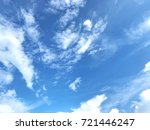 blue sky and white cloud for... | Shutterstock . vector #721446247