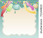 greeting card frame with... | Shutterstock . vector #72144823