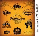 halloween design elements for... | Shutterstock .eps vector #721449811