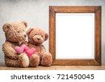 retro teddy bear toys with... | Shutterstock . vector #721450045