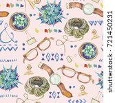 watercolor seamless pattern of... | Shutterstock . vector #721450231