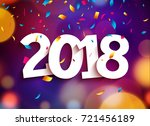 happy new year 2018 background... | Shutterstock .eps vector #721456189