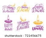 diwali festival set of hand... | Shutterstock .eps vector #721456675