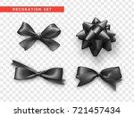 bows black realistic design.... | Shutterstock .eps vector #721457434