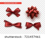 bows red realistic design....
