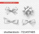 bows white realistic design.... | Shutterstock .eps vector #721457485
