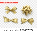 bows gold realistic design.... | Shutterstock .eps vector #721457674