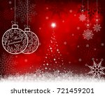 christmas red background with... | Shutterstock .eps vector #721459201