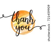 thank you lettering  vector... | Shutterstock .eps vector #721459909