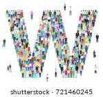 letter w  group of people ... | Shutterstock .eps vector #721460245
