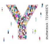 letter y  group of people ... | Shutterstock .eps vector #721460371