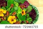 healthy vegetarian salad with...   Shutterstock . vector #721461715