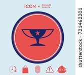 awards champions cup icon with... | Shutterstock .eps vector #721462201