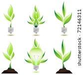Eco Design. Growing Plant....