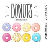 donut vector set isolated on...   Shutterstock .eps vector #721464877