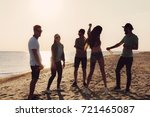 people dancing in summer | Shutterstock . vector #721465087