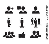 business man icon  vector | Shutterstock .eps vector #721465984