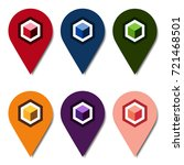 colorful location pins with...