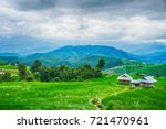 Hut And Green Terraced Rice...