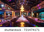 superb luxury chandelier above... | Shutterstock . vector #721474171