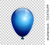 a realistic blue color balloon... | Shutterstock .eps vector #721476199