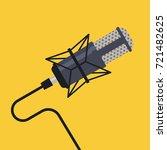 studio microphone vector. | Shutterstock .eps vector #721482625