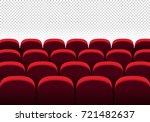 red vector seats. cinema  movie ... | Shutterstock .eps vector #721482637
