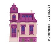 old mansion building isolated... | Shutterstock .eps vector #721483795