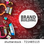 brand building concept with... | Shutterstock .eps vector #721485115