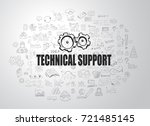 technical support concept with... | Shutterstock .eps vector #721485145