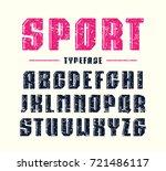 decorative bold sanserif font... | Shutterstock .eps vector #721486117