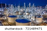 oil storage tank with oil... | Shutterstock . vector #721489471
