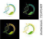 dna logo vector eps 10 | Shutterstock .eps vector #721491409