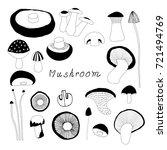 mushroom vector   Shutterstock .eps vector #721494769