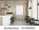 wooden bar interior with a... | Shutterstock . vector #721500301