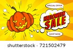 halloween sale web banner with... | Shutterstock .eps vector #721502479