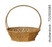 empty wicker basket isolated on ...   Shutterstock . vector #721503385