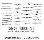 set of border doodle... | Shutterstock .eps vector #721503991