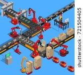 industrial conveyor process of... | Shutterstock . vector #721504405