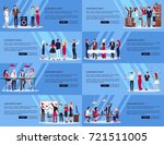 corporate party set of several... | Shutterstock .eps vector #721511005