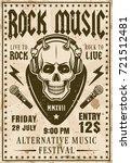 rock music festival invitation... | Shutterstock .eps vector #721512481