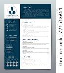 resume design template... | Shutterstock .eps vector #721513651