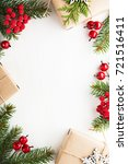 christmas background with xmas... | Shutterstock . vector #721516411