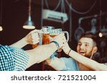 friends toasting with glasses... | Shutterstock . vector #721521004
