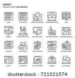 survey square icon set. the... | Shutterstock .eps vector #721521574