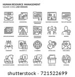 human resource square icon set. ... | Shutterstock .eps vector #721522699