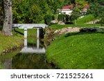 bridge in park | Shutterstock . vector #721525261