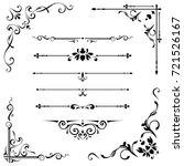 calligraphic design elements | Shutterstock .eps vector #721526167