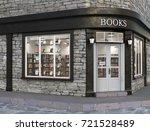 books store exterior  3d... | Shutterstock . vector #721528489